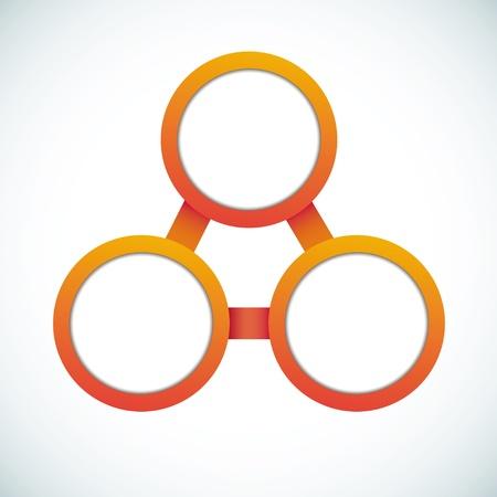 felügyelő: Üres színkör marketing folyamatábra Illusztráció