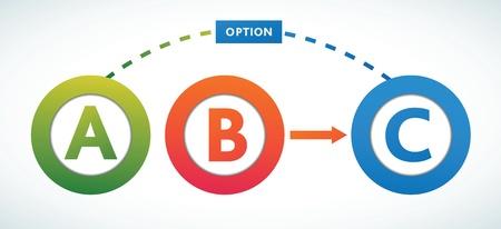 cross process: Multicolored presentation color circles template