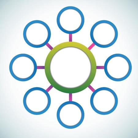 three wheel: Presentation color circles template  Illustration