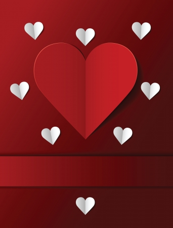 Valentine s day postcard  Vector