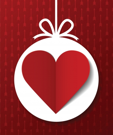 Valentine s day postcard Stock Vector - 17224383