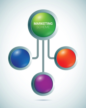 Presentation color circles template  Stock Vector - 17237090