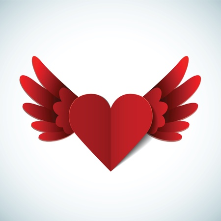 Valentines day postcard with heart Vector
