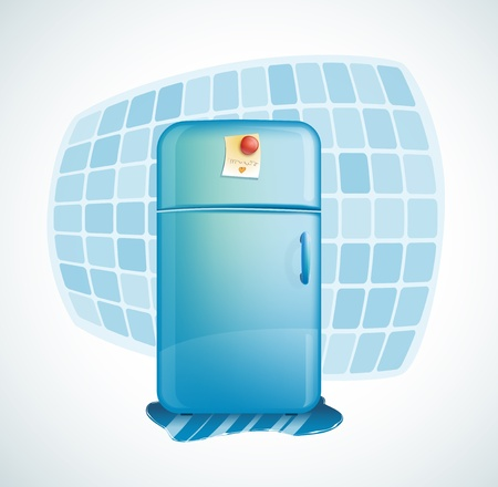 cartoon illustration - refrigerator Vector