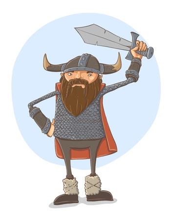 Cartoon viking Stock Vector - 17431087