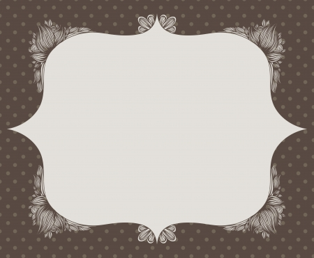 frame with hand drawn flowers Vector