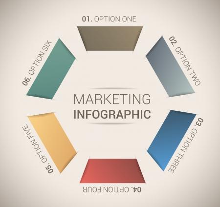 numbered: Modern soft color Design template   infographics Illustration
