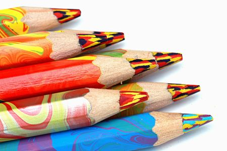 Colored pencils close up Stock Photo - 3029300