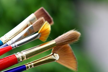 finest: Set of the finest paintbrushes
