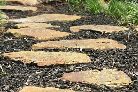 Pad van Stepping Stones Stockfoto