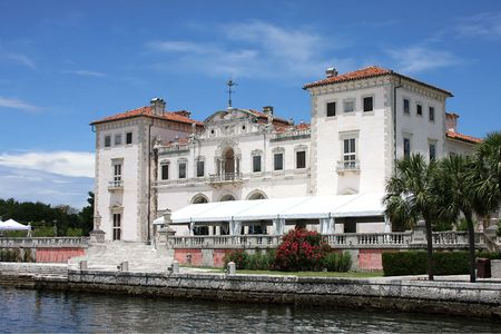 East Terrace of Vizcaya Museum in Miami,Fl  Stock Photo