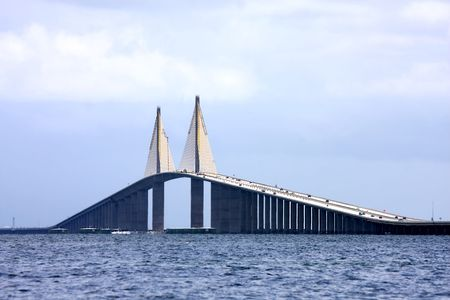 Sunshine Skyway Bridge  in Florida's Tampa Bay Stock Photo - 3443361