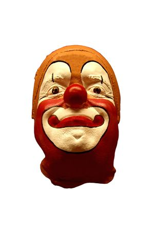 Funny clay clown mask