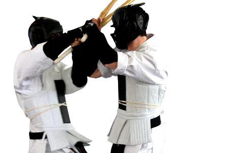 Karate fight ( kumite), sports series Stock Photo - 4561796