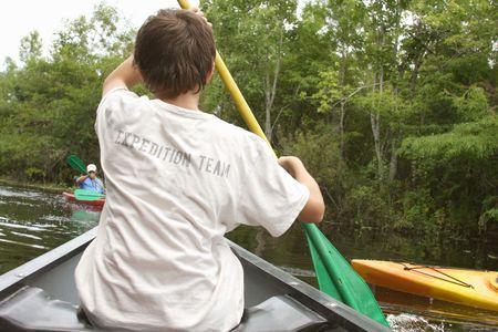 Kayaking in the wetland Everglades