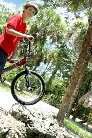 msn: Teenager boy on bicycle
