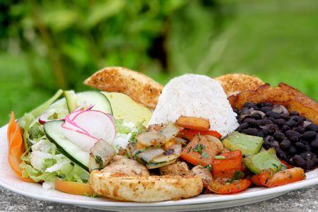 Casado  - traditional  food in Costa Rica