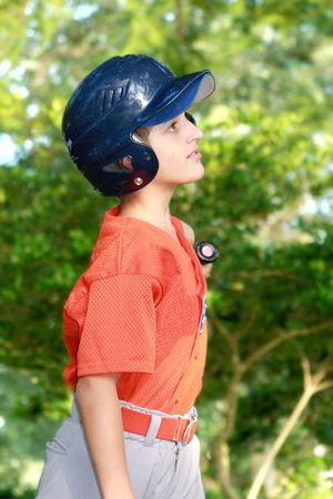 Little league baseball player photo