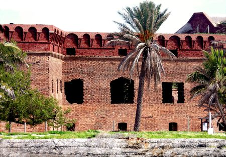 fort jefferson: Brick walls of Fort Jefferson, Dry Tortugas Stock Photo