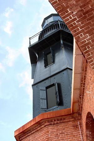 fort jefferson: Lighthouse  in Fort Jefferson, Dry Tortugas,Florida
