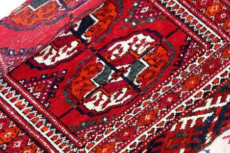coverlet: Close up of  early 20 th century  Turkmenian tekin rug