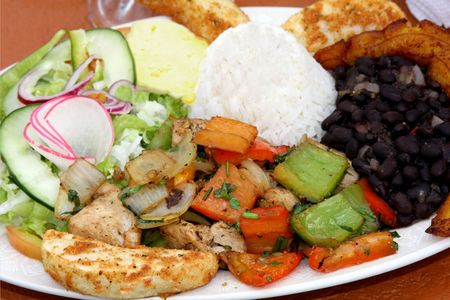 Casado, tradition  food in Costa Rica