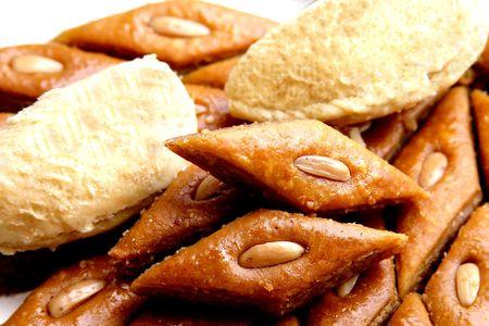 The ramadan sweet from Azerbaidjan - baklava and badam . photo