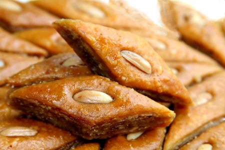 baklawa: The ramadan sweet from Azerbaidjan - baklava  Stock Photo