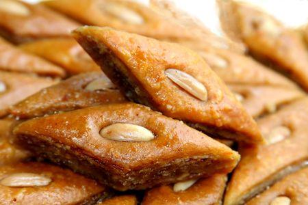 The ramadan sweet from Azerbaidjan - baklava Stock Photo - 5534666