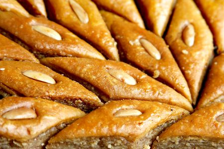 The delisious gourment dessert from Azerbaidjan known as baklava photo