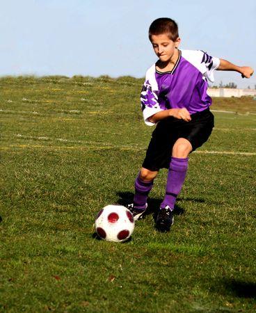 Soccer player in action Archivio Fotografico