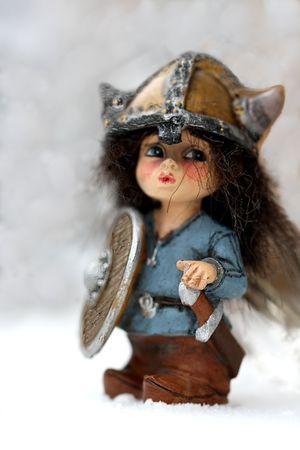 vikings: Le guerrier Viking en casque avec �p�e Banque d'images