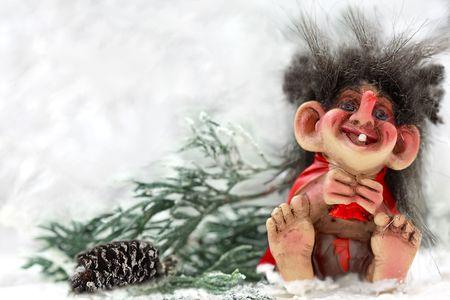 Laughting norvegian troll Reklamní fotografie