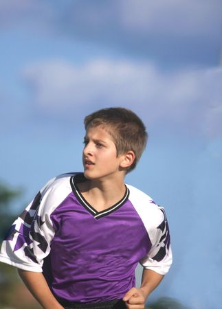 Young  soccer player running