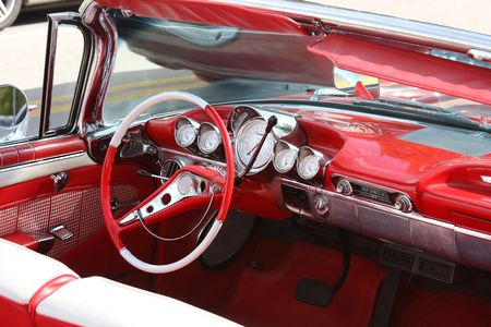 Classic car interior photo