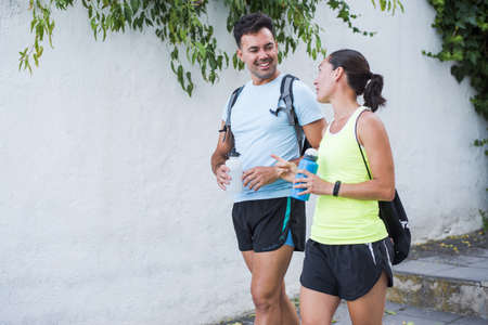 Fitness lifestyle of mature couple