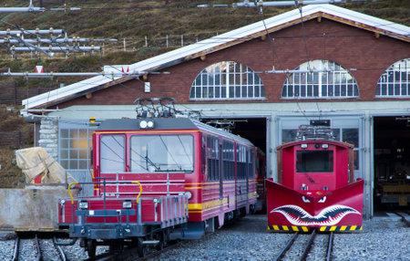 Train at Kleine Scheidegg station