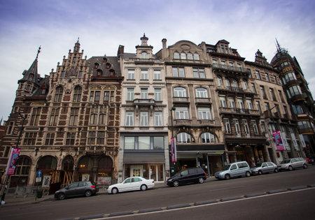 bruxelles: Brussels, Belgium - June 18, 2011: The Baroque-style architecture of Belgium building