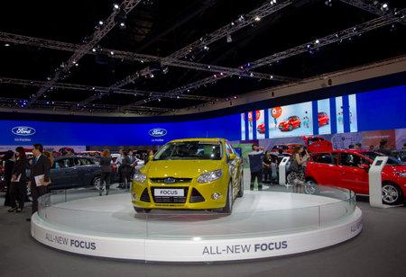 Bangkok, Thailand - 29 maart 2013: Ford Focus nieuw model gepresenteerd in Bangkok Motor Show 2013