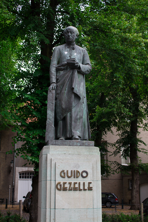Monument to Guido Gezelle Stock Photo