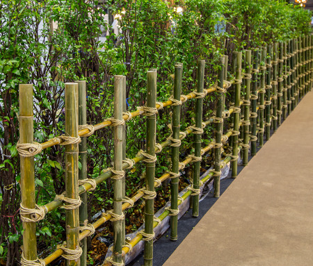 Charmant Natural Material Bamboo Garden Fence Stock Photo   90093577