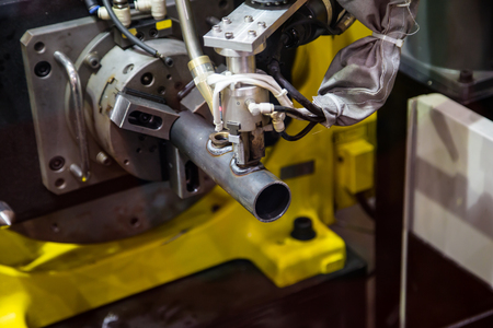 6 axis robotic arc machine welding nipple to pipe