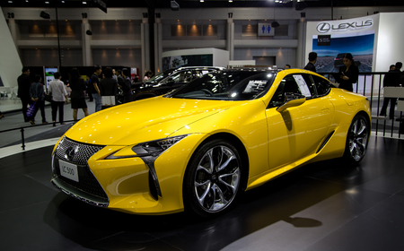 Bangkok, Thailand - December 11, 2017: Lexus LC 500 Luxury Coupe presented in Motor Expo Show 2017 Editorial