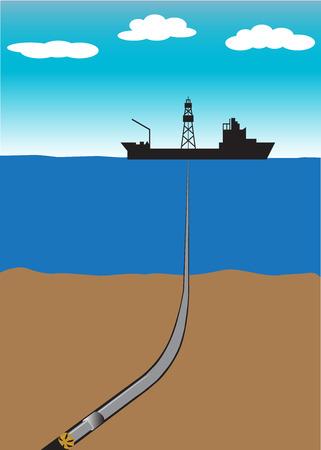 Offshore-Öl- und Gasbohrschiff