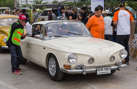Nonthaburi, Thailand - March 10, 2018: VW Karmann Ghia Type 34  join volkswagen club meeting at car park of Robinson department store Editorial