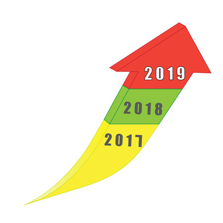 Business success plan for next year 2019 trendy up Standard-Bild - 111564565