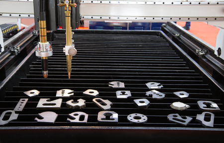 CNC gas plasma cutting machine, Industrial metalwork