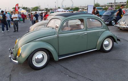 Bangkok, Thailand - 9. Februar 2019: Vintage Volkswagen Beetle Show beim Volkswagen Club Meeting im Siam VW Festival Editorial