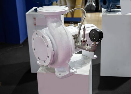 Centrifugal electric water white pump flange connection Imagens