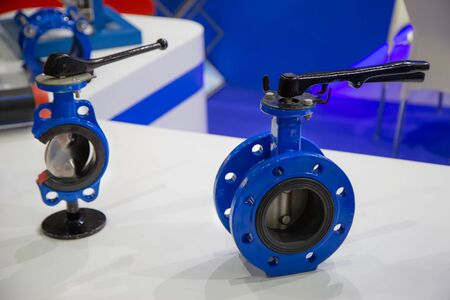 Butterfly valve lever operated cut-away show inside